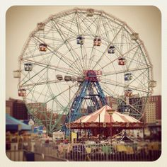 Coney Island One Day I Will, Coney Island, Ferris Wheel, Places Ive Been, Brooklyn, Carnival, Beautiful Places, Fair Grounds, Bucket