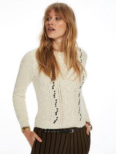 SCOTCH & SODA Crew Neck Cable Knit Sweater. #scotchsoda #cloth #