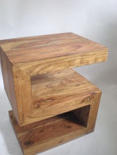 Modern Cantilever S side Table / FREE Shipping. $375.00, via Etsy.
