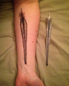My cockatiel's tail feather Body Language Tattoo Astoria, New York
