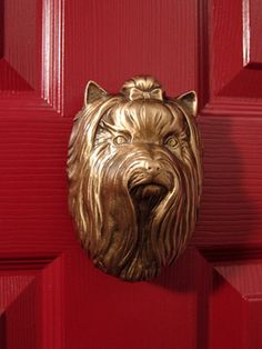 ♥  :: Yorkshire Terrier Dog Knocker by Michael Healy-Bronze