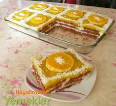 Easy Cake with Orange Biscuits, Eclair Cake Recipes, Cookie Recipes, Dessert Recipes, Sweet Cookies, Sweet Treats, Turkish Sweets, Pasta Cake, Easy Eat, Turkish Recipes