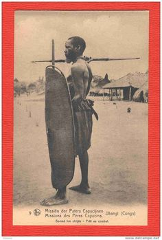 Ethnographic Arms & Armour - Period Photos of People with Ethnographic Arms5) Ubangi warrior