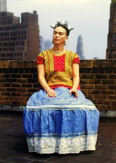 Frida Kahlo in New York, 1946. Photo by Nickolas Muray.