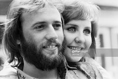 Scottish singer Lulu with her husband, singer Maurice Gibb of the Bee Gees, in the UK before their departure to Las Vegas, 3rd June 1971.