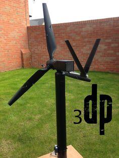MKIII 50 Watt printable Wind Turbine by - Thingiverse 3d Printer Designs, 3d Printer Projects, 3d Projects, Project Ideas, 3d Printing Business, 3d Printing Diy, Modele Impression 3d, 3d Design, Print Design
