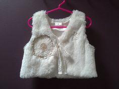WHITE FAUX FUR vest boho vest white fur vest by SwirlnTwirlGirl White Fur Vest, Faux Fur Vests, Boho Girl, Boho Skirts, Crochet Doilies, Nice Dresses, Photo Shoot, Infant, Winter