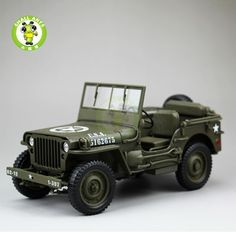 32.29$  Watch now - http://ali67x.shopchina.info/1/go.php?t=32814843512 - 1/18 1/4 Ton US ARMY WILLYS JEEP TOP DOWN Diecast Car Model Toys Welly Army Green  #magazineonlinewebsite