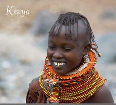 Africa | Turkana girl. Samburu County (former Rift Valley Province), Kenya || Scanned postcard; Cartai: Store