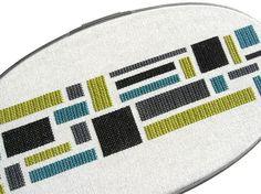Color blocks modern cross stitch by wallwork on Etsy, $70.00