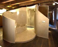 Walk-in bathroom loft