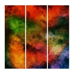 Colorful Abstract Triptych Wall Art - red gifts color style cyo diy personalize unique