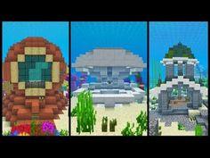 minecraft underwater house how to build Minecraft Houses Xbox, Minecraft Houses Survival, Minecraft Castle, Minecraft Houses Blueprints, Minecraft Plans, Minecraft Videos, Minecraft Tutorial, Cool Minecraft, Minecraft Creations