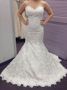 My dress on me in the fitting room! Martina Liana #504.