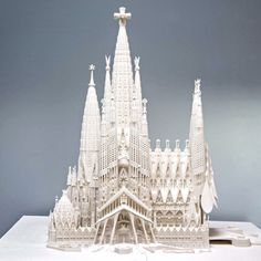 3D printed model of the finished Sagrada Familia - here's an awesome simulation of how they get from today to this https://www.pinterest.com/pin/389913280214841783/
