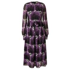 Orla Kiely | UK | Clothing | SALE - Dresses | Georgette Shelly Dress (16AWGGT742) | Amethyst