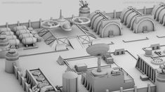 Low Poly / Sci fi Military Base / 04 by MMKerrigan