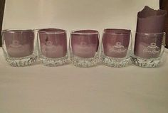 Set of 5 Crown Royal clear Whiskey Glasses