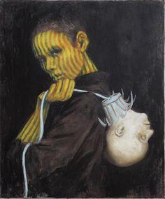 """""""Bewaffnet""""  2006, oil - Jonas Burgert"""