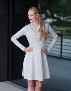 PIPPURI Kleid •HOLY• - hellgrau von pippuri auf DaWanda.com