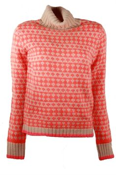 Designertøj og sko til hende Fair Isle Knitting, Baby Knitting, Orange Sweaters, Neon Nails, Color Pop, Knitwear, Style Me, Knit Crochet, Men Sweater