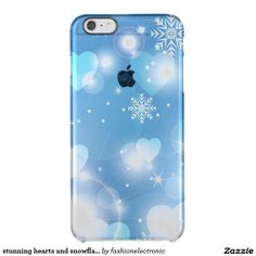 stunning hearts and snowflakes uncommon clearly™ deflector iPhone 6 plus case