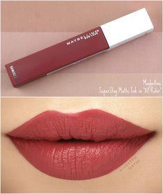 Mac Lipstick Shades, Drugstore Lipstick, Drugstore Makeup, Lipstick Colors, Makeup Cosmetics, Lipsticks, Lipstick Swatches, Maybelline Superstay, Maybelline Matte Ink