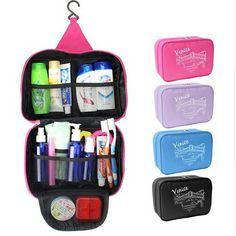 Nuovo Portatile Attaccatura Dell organizzatore di immagazzinaggio del  Sacchetto Pieghevole Cosmetic Makeup Case Bagagli Borse 258fcd429e2