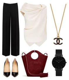 """""""Work, work, work"""" by fru316 on Polyvore featuring Alexander McQueen, Roland Mouret, Christian Louboutin, Elizabeth and James and CLUSE"""