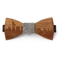 Bearing the laser-cut skylines of famous cities, this eye-catching cravat gives any outfit a touch of rusticity while hinting at your urban jungle.