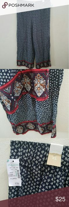 NWT Maurices Boho XL Palazzo Pants Great lightweight palazzo pants to add to your wardrobe! Size XL with some fabric stretch along the waistband.  Tags are still attached - never worn.    Check out my other listings! #casual #stylish maurices  Pants Wide Leg