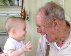 """He's meeting his great-grandfather for the first time."" Submitted By: Nicole T. Location: Pennsylvania, United States"