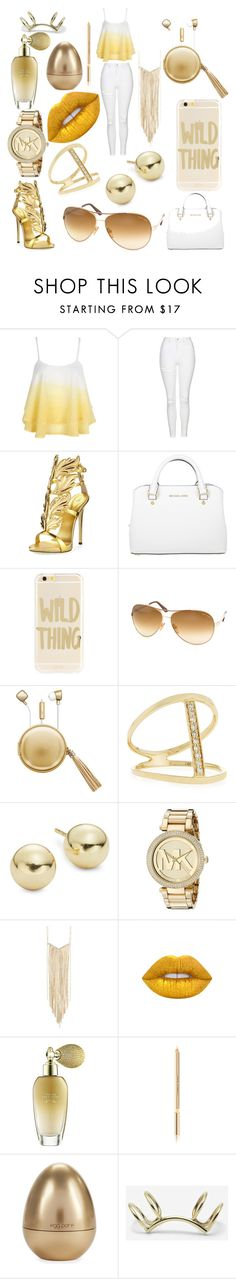 """Tan"" by skyrickkia on Polyvore featuring WithChic, Topshop, Giuseppe Zanotti, Michael Kors, Sonix, Tom Ford, The Macbeth Collection, Sydney Evan, Lord & Taylor and Natasha Accessories"