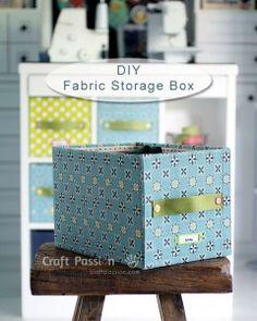 как из простой коробки из под бумаги сделать короб для хранения вещей