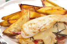 Pechugas de pollo con jamón crudo, queso y batatas - Cocina y Recetas - lanacion.com