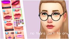 """pastelpixelated: """" Since ariana released her new song """"no tears left to cry"""" I decided make a lipstick set with colours she uses http://simfileshare.net/download/509157/ hope you guys like them! """""""