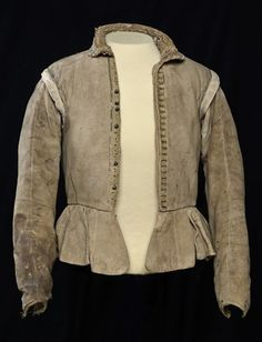 Doublet of one Hugo de Groot, made in buff leather - I think it's about 1610-1620. Just awesome.