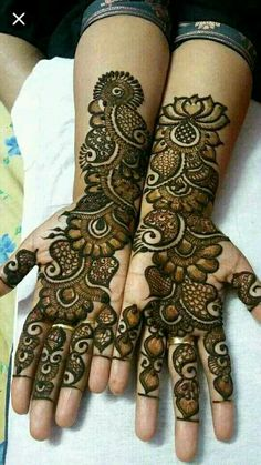 Henna desig n Arabic Mehndi Designs Brides, Peacock Mehndi Designs, Mehndi Designs Book, Indian Mehndi Designs, Mehndi Designs For Girls, Mehndi Designs 2018, Stylish Mehndi Designs, Wedding Mehndi Designs, Mehndi Design Pictures