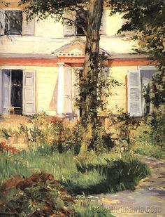 The House at Rueil. One of my fav Edouard Manet paintings.