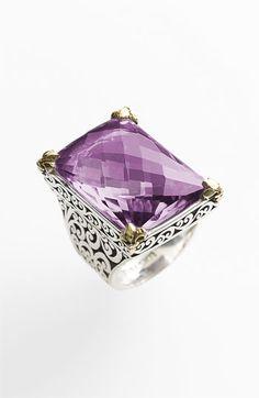 Lois Hill 'Rose de France' Rectangular Stone Statement Ring | Nordstrom - StyleSays