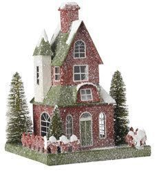 Risultati immagini per christmas putz house Christmas Village Houses, Putz Houses, Christmas Villages, Fairy Houses, Magical Christmas, Christmas Home, Christmas Crafts, Christmas Decorations, Holiday Decor