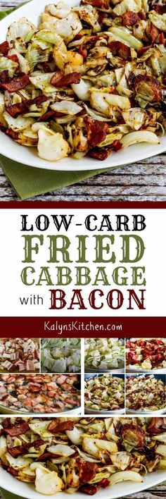 Low-Carb Fried Cabbage with Bacon is super quick super easy and super delicious! This is perfect for Keto diets and it's also gluten-free dairy-free and can be Paleo with the right bacon choice. Keto Cabbage Recipe, Cabbage Recipes, Radish Recipes, Potato Recipes, Ketogenic Recipes, Paleo Recipes, Low Carb Recipes, Dinner Recipes, Dessert Recipes