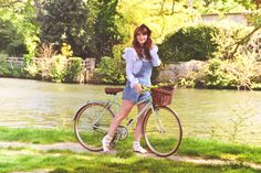 Bicycle Pretty bicycle Caen Normandie Spring Outfit