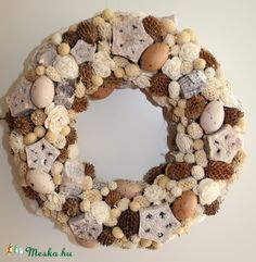 Meska - Tavaszi, húsvéti ajtódísz, koszorú, kopogtató Weddingland kézművestől