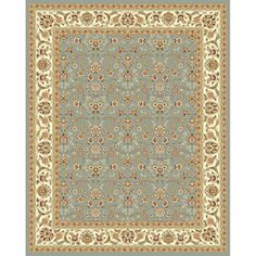 @Overstock - Traditional Persian and European designs enhance any living room or home decor Rug features floral motif set on light blue background with ivory border Enhanced polypropylene area rug construction keeps dirt outhttp://www.overstock.com/Home-Garden/Lyndhurst-Floral-Motif-Greyish-Blue-Ivory-Rug-8-x-11/2241799/product.html?CID=214117 $288.99