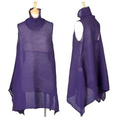 Excellent Designed ISSEY MIYAKE me Tunic Dress purple Crease Effect M JAPAN