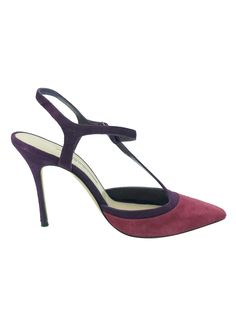 f61655ce94a4 Manolo Blahnik Pink And Burgundy Suede Umice Pumps Size 3.5. Timpanys