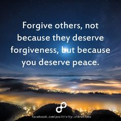 ❥ Forgive others for your own peace
