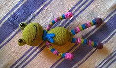 "Amigurumifrog, crochetfrog ""Tivadar"" Amigurumi Toys, Clay, Crochet, Clays, Ganchillo, Crocheting, Knits, Chrochet, Modeling Dough"