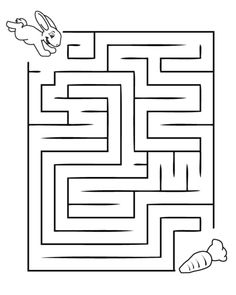 Printable Mazes for Kids. - Best Coloring Pages For Kids Kids Activity Center, Activity Sheets For Kids, Mazes For Kids Printable, Printable Coloring Pages, Free Printable, Kindergarten Worksheets, Worksheets For Kids, Color Activities, Preschool Activities